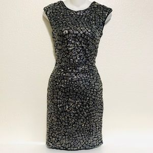 New H&M Mosaic Sparkly Dress Low Rounded Back